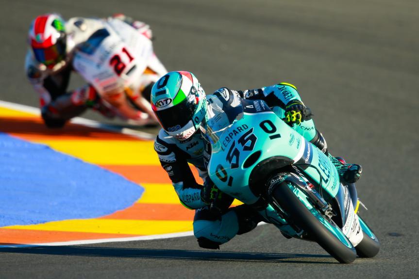 Andrea Locatelli, Leopard Racing and Francesco Bagnaia, ASPAR Mahindra Team Moto3, Gran Premio Motul de la Comunitat Valenciana
