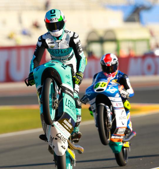 Andrea Locatelli, Leopard Racing and Philipp Oettl, Schedl Grand Prix Racing, Gran Premio Motul de la Comunitat Valenciana