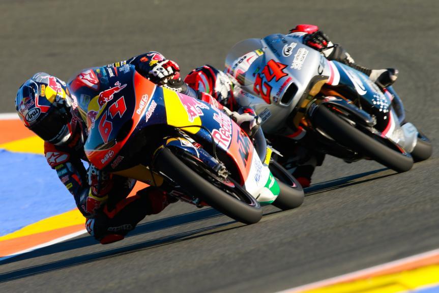 Bo Bendsneyder, Red Bull KTM Ajo and Tatsuki Suzuki, CIP-Unicom Starker, Gran Premio Motul de la Comunitat Valenciana