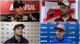 I protagonisti del MotoGP™ commentano i risultati delle qualifiche a Valencia.