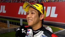 Il pilota Honda è terzo nelle qualifiche al Ricardo Tormo e per la seconda volta partirà dalla prime fila.