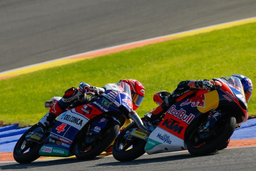 Fabio Di Giannantonio, Brad Binder, Gran Premio Motul de la Comunitat Valenciana