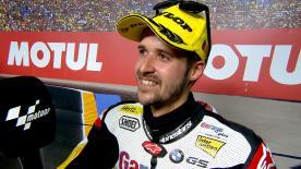 Thomas Luthi è secondo dopo aver avuto la meglio su Morbidelli. Lo svizzero è vicecampione della classe intermedia.