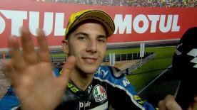 Andrea Migno è terzo al #ValenciaGP, ultima tappa della stagione.