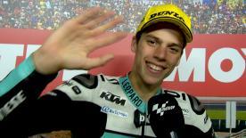 Il pilota Leopard Racing è secondo a Valencia e miglior rookie della stagione.