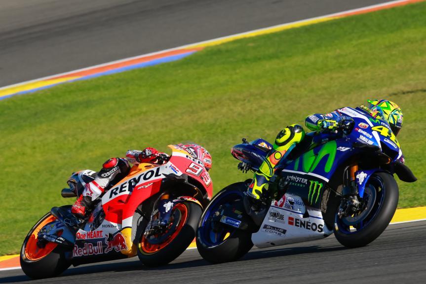 Valentino Rossi, Marc Marquez, Gran Premio Motul de la Comunitat Valenciana