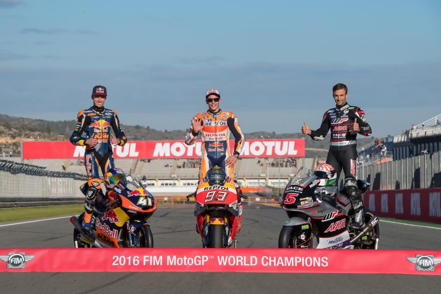 Marc Marquez, Johann Zarco, Brad Binder, Gran Premio Motul de la Comunitat Valenciana