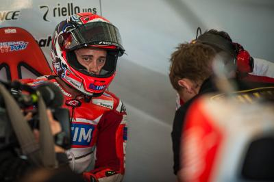 "Dovizioso: ""The feeling was different to practice"""