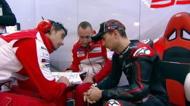 Jorge Lorenzo's new career with Ducati began in Valencia at the official test - take a look at his first laps with the Italian giant.