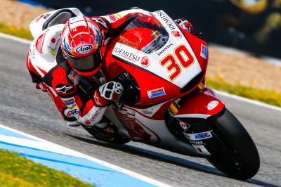 Moto2™: Nakagami in Jerez vorne