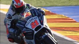 The Italian Moto3 rider tested the Pull&Bear Aspar Ducati MotoGP bike after winning a bet with his team