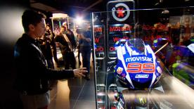 Jorge Lorenzo's new museum 'World Champions by 99' in Andorra, displays a collection of items worn by the greats of MotoGP™ and Formula 1.