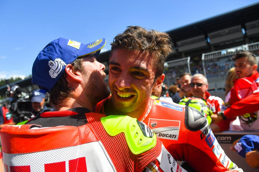 Andrea Iannone and Cal Crutchlow