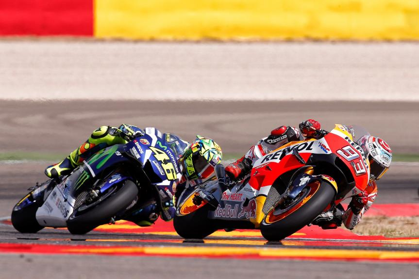 Marc Marquez and Valentino Rossi