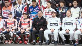 Repsol Honda riders celebrate 2016 at the manufacturer's season finale event in Japan