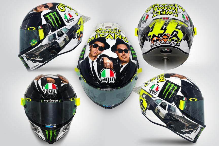 Helmet Rossi Sweet Home Misano