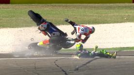 motogp.com's compilation of the biggest crashes and wobbles seen in 2016