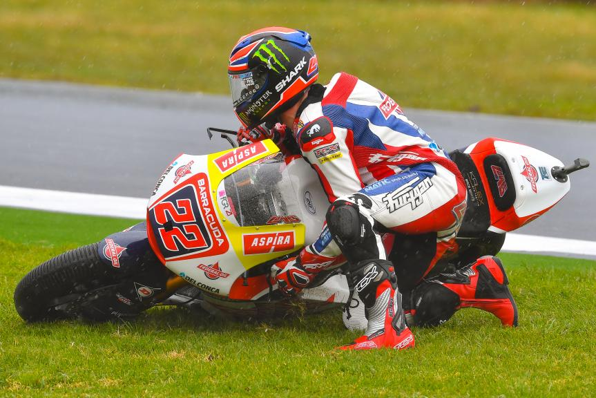 Sam Lowes, crash