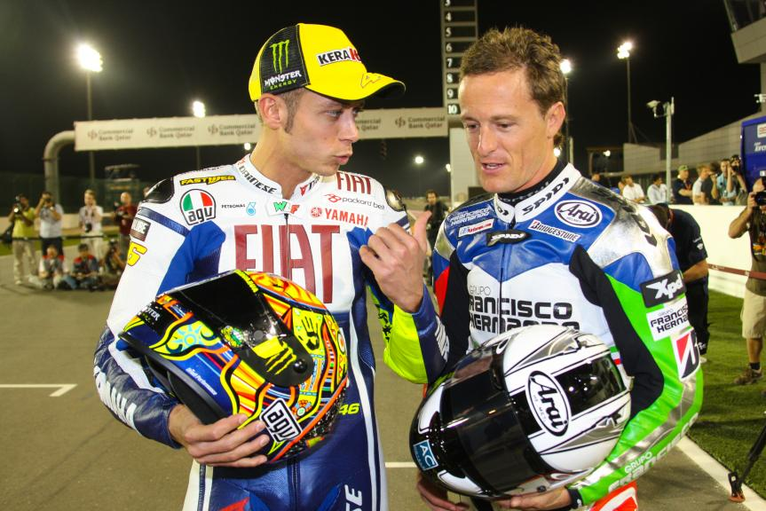 Rossi and Gibernau, Qatar 2009