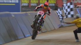 "All the best action from the Superprestigio as MM93 takes on ""Brad the Bullet"" in another spectacular edition of the dirt track classic"