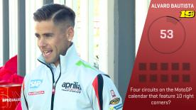 motogp.com gives each rider 60 seconds to get as many trivia questions right as they can - next up is Alvaro Bautista