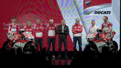 Lorenzo und Dovizioso präsentieren die 2017er Ducati