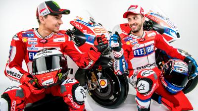 Ducati launch: Lorenzo and Dovizioso's Desmosedici