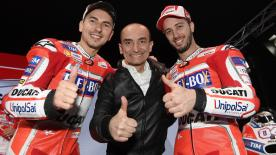 Lorenzo and Dovizioso introduce their 2017 challengers in Italy