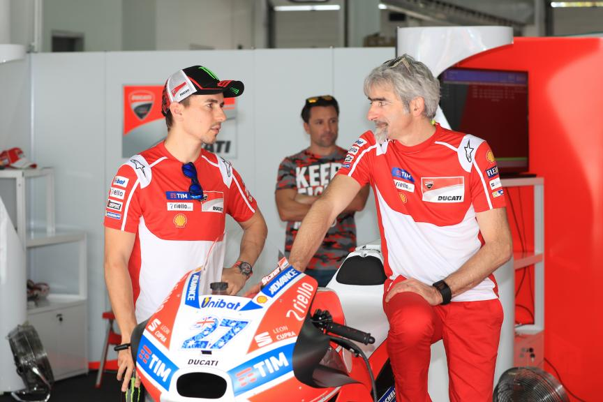 Sepang Private Test, Jorge Lorenzo, Ducati Team