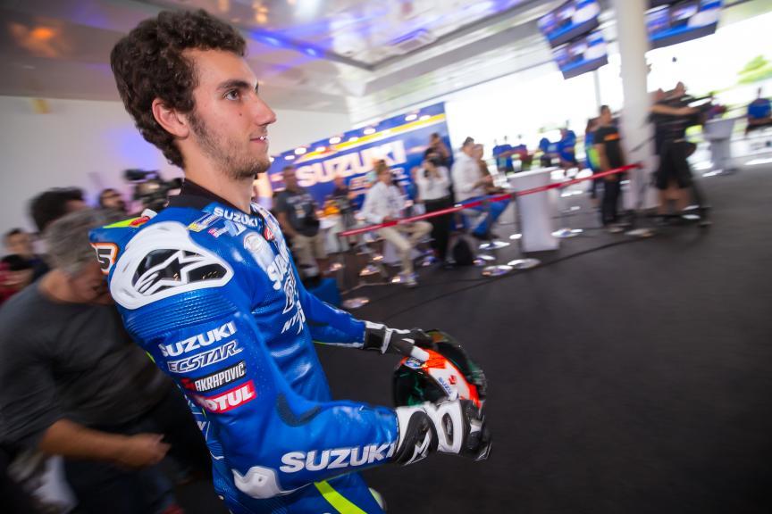 Alex Rins, Suzuki Ecstar MotoGP launch 2017