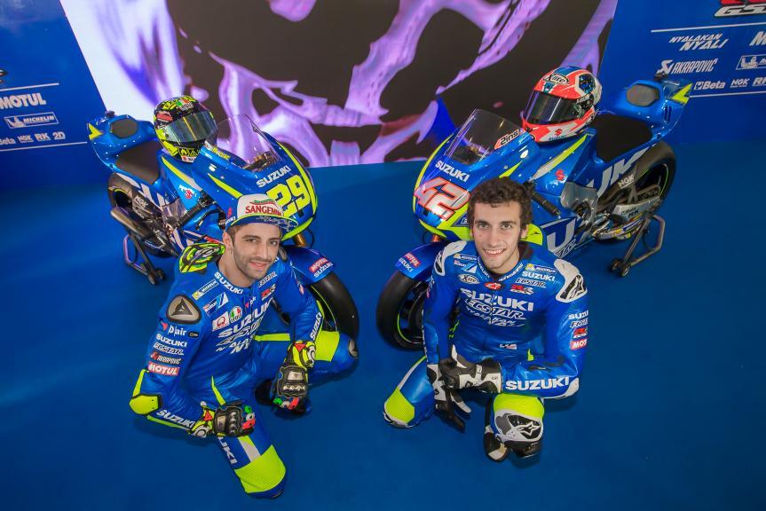 Andrea Iannone, Alex Rins, Suzuki Ecstar MotoGP launch 2017