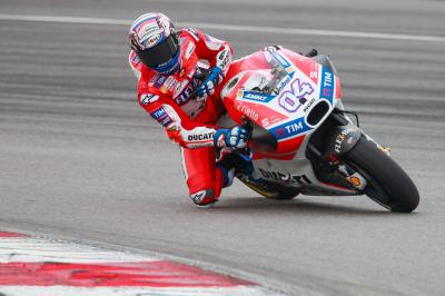 Dovizioso top race rider on Day 1