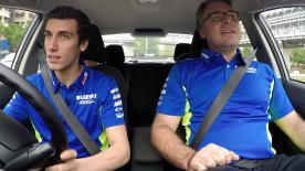 motogp.com sneaked into Alex Rins' car as he headed to the Sepang International Circuit for the final day of testing with Alberto Gomez, the team Marketing and Communication Manager