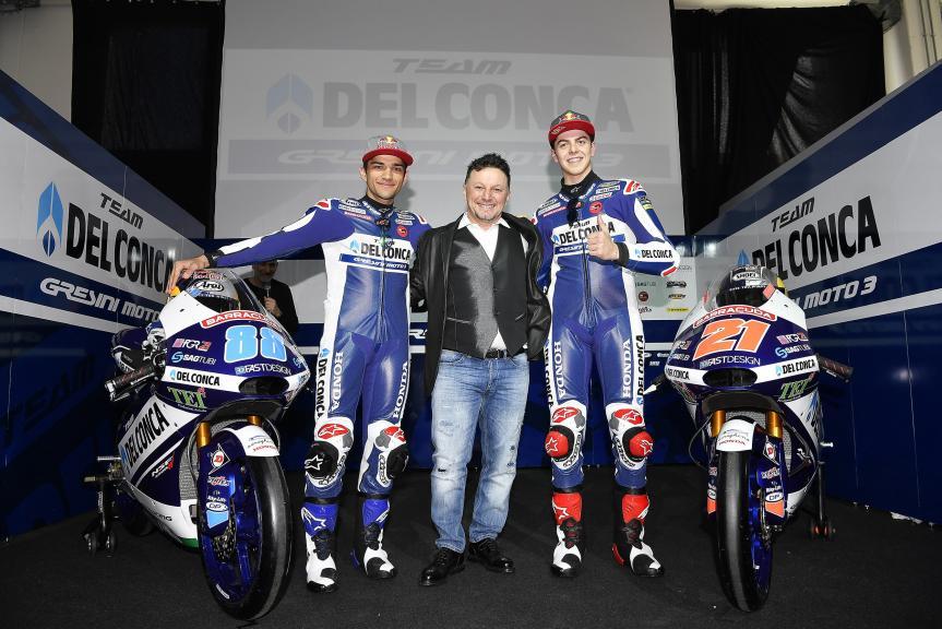 Team Del Conca Gresini Moto3 2017 presentation
