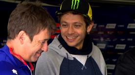 We take an exclusive look behind-the-scenes with Valentino Rossi's at mechanic, Alex Briggs
