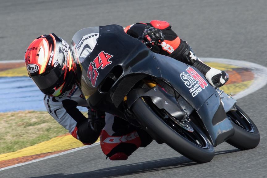 Tatsuki Suzuki, Sic58 Squadra Corse, Valencia Private Test