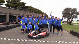 To warm-up before the #AusTest, the whole team Suzuki Ecstar took to the track at Phillip Island... racing Go Karts