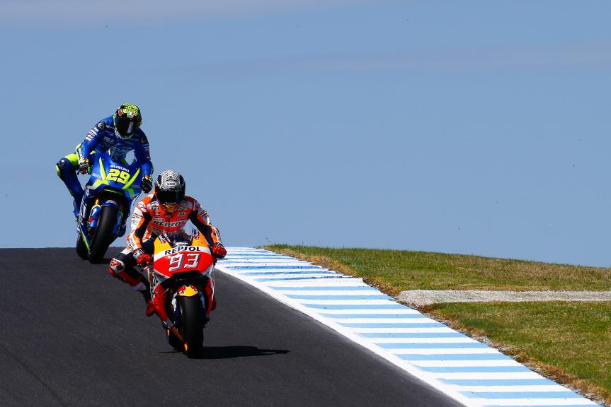 Marc Marquez, Repsol Honda Team, Andrea Iannone, Team Suzuki Ecstar, Phillip Island MotoGP™ Official Test