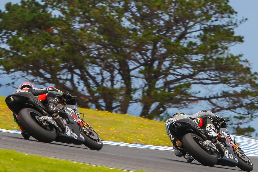 Aleix Espargaro, Sam Lowes, Aprilia Racing Team Gresini, Phillip Island MotoGP™ Official Test