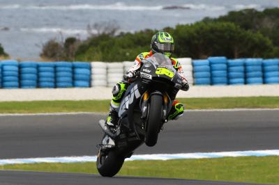 "Crutchlow ""happy with the pace"""