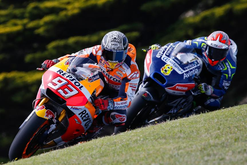 Marc Marquez, Repsol Honda Team, Hector Barbera, Reale Esponsorama Racing, Phillip Island MotoGP™ Official Test