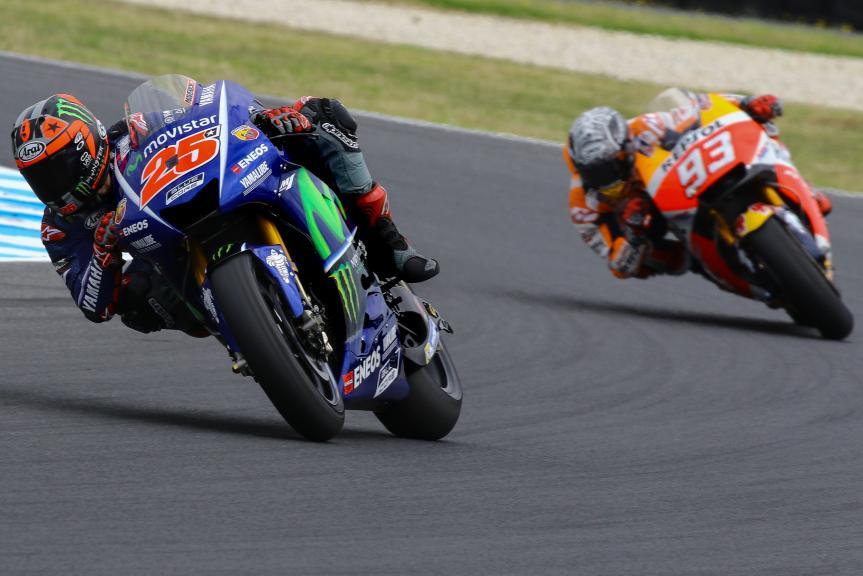 Maverick Vinales, Movistar Yamaha Motogp, Marc Marquez, Repsol Honda Team, Phillip Island MotoGP™ Official Test