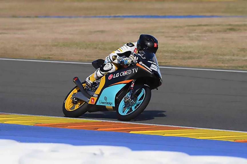 Juanfran Guevara, Rba Racing Team, Valencia Private Test