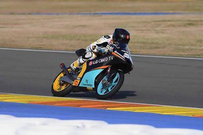 Moto3™ complete private Valencia test