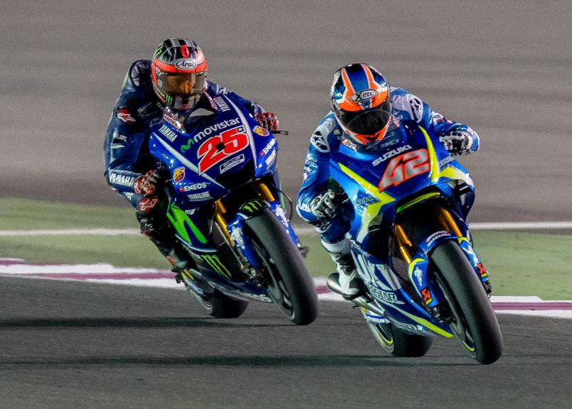 Alex Rins, Team Suzuki Ecstar, Maverick Vinales, Movistar Yamaha Motogp, Qatar MotoGP™ Official Test