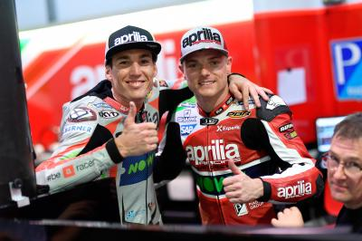 Aprilia: Lowes and Espargaro talk #QatarTest