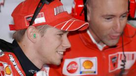 Ducati's Cristian Gabarrini and Casey Stoner talk about their title-winng 2007 season, and on Lorenzo joining the team