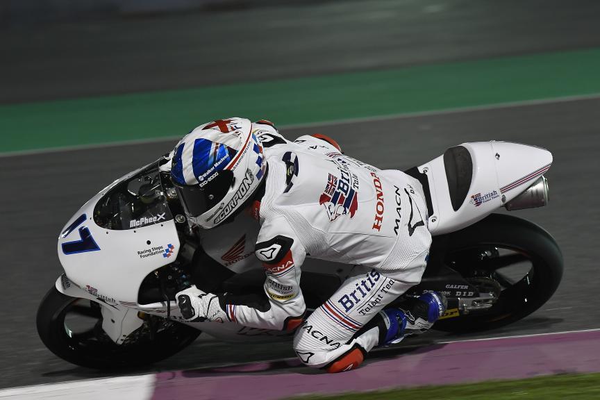 John Mcphee, British Talent Team, Qatar Moto2™ - Moto3™ Official Test