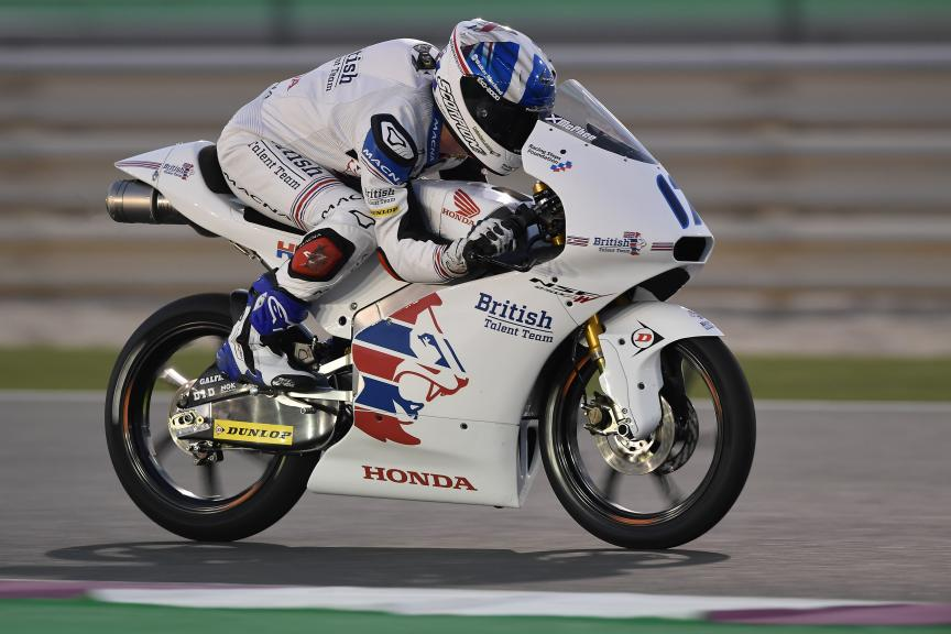 John Mcphee, British Talent Team, Qatar Moto2™ - Moto3™ Official Test