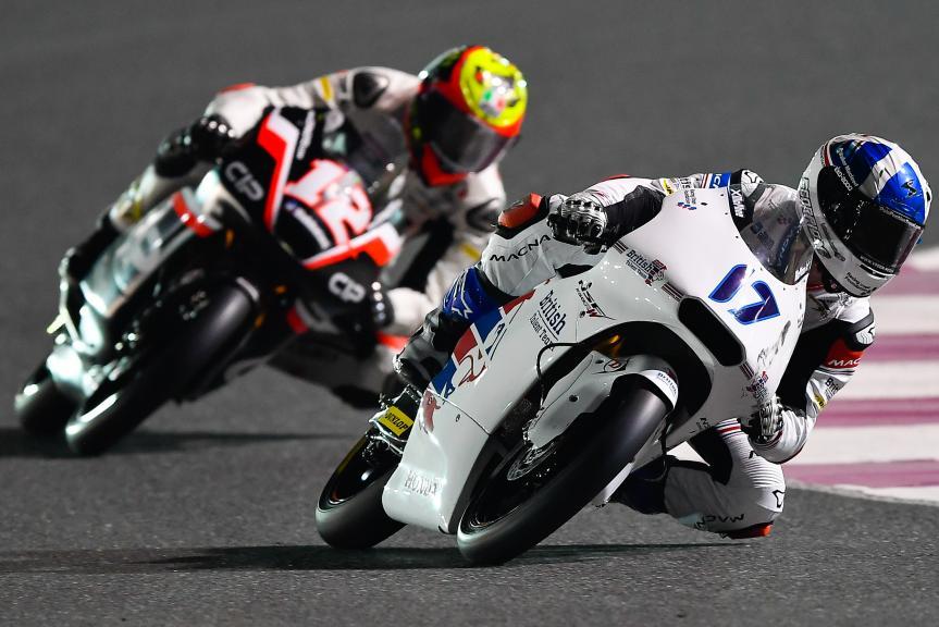 John Mcphee, British Talent Team, Marco Bezzecchi, Cip, Qatar Moto2™ - Moto3™ Official Test